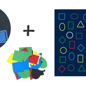 Covor joc forme geometrice