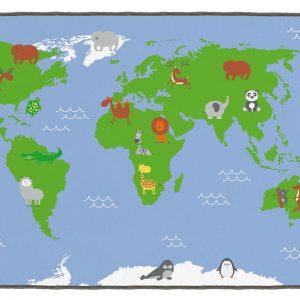 Covor gradinita Harta Lumii