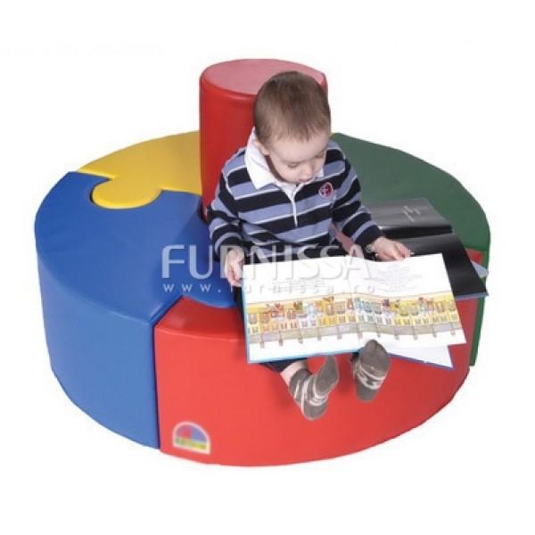 Canapea rotunda puzzle