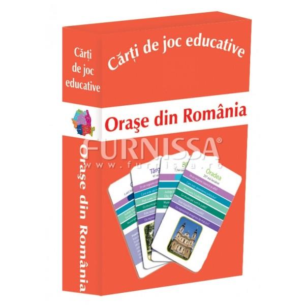 CARTI DE JOC EDUCATIVE- ORASE DIN ROMANIA