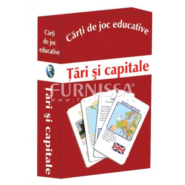 CARTI DE JOC EDUCATIVE- TARI SI CAPITALE