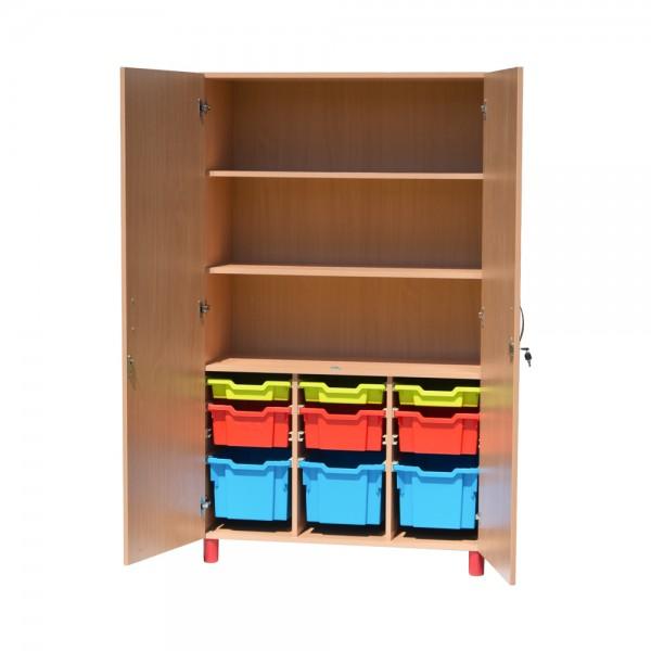 Dulap material didactic cu sertare depozitare