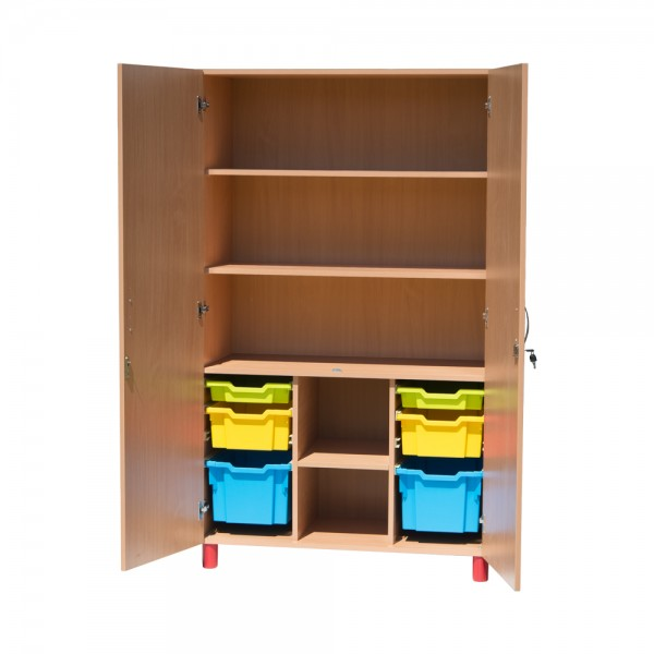 Dulap material didactic, inalt, cu sertare depozitare, model 2