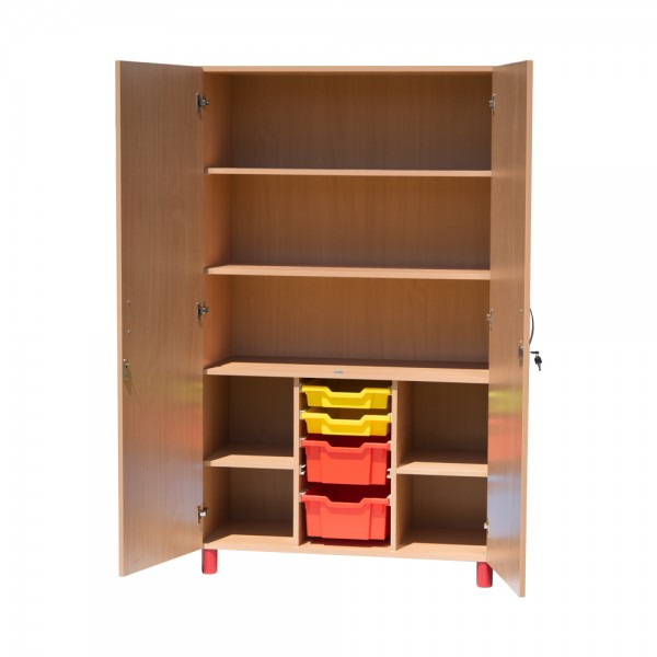 Dulap material didactic, inalt, cu sertare depozitare, model 3