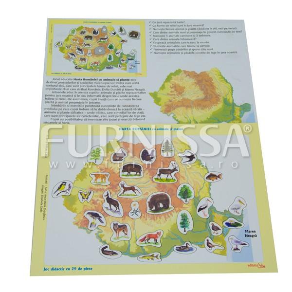 Harta Romaniei cu Animale si Plante