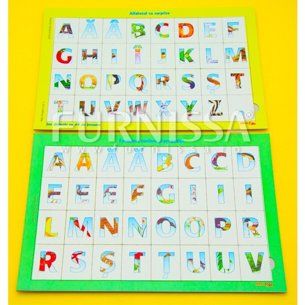 Joc didactic Alfabetul cu surprize