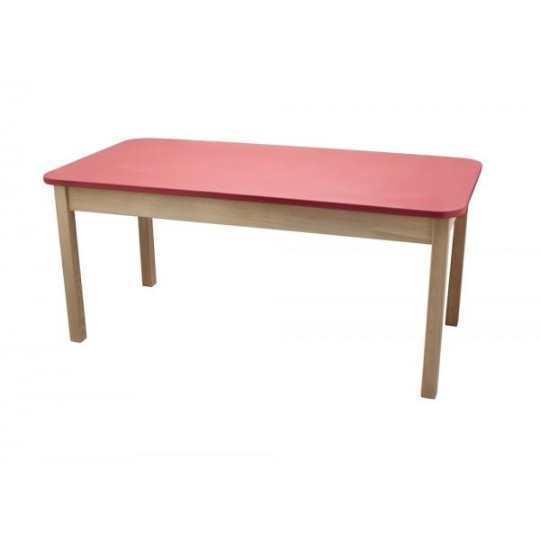 Masa gradinita lemn dreptunghiulara T2 rosu