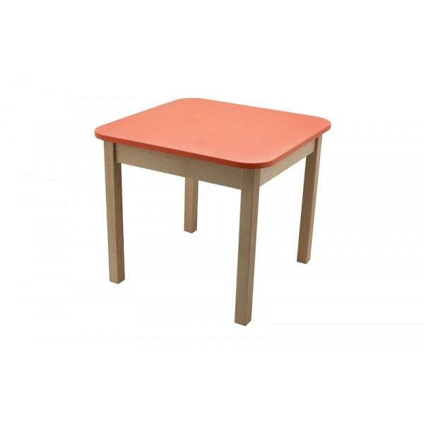 Masa gradinita lemn patrata T2 rosu