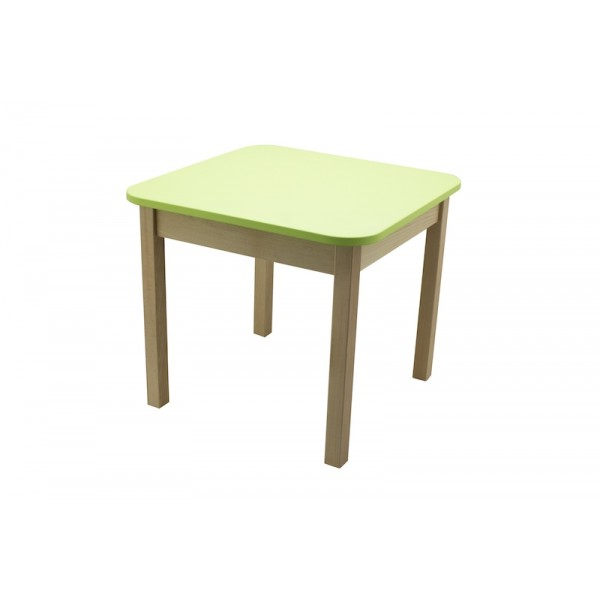 Masa gradinita lemn patrata T2 verde