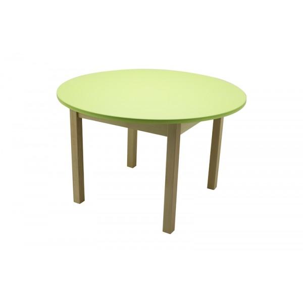 Masa gradinita lemn rotunda T2 verde