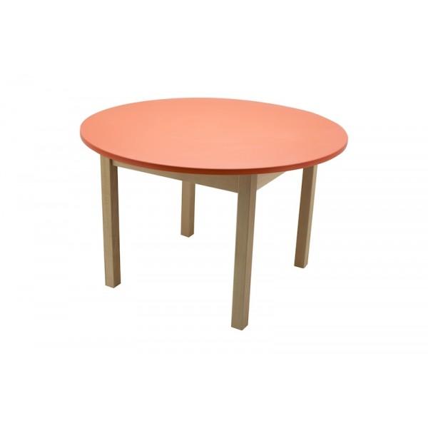 Masa gradinita lemn rotunda T3 rosu