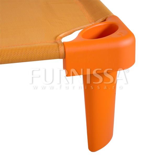 Picioare suprainaltare pat stivuibil portocaliu