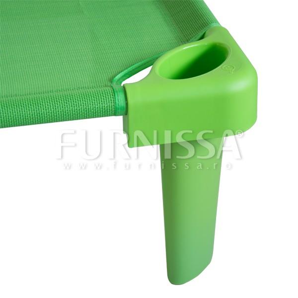 Picioare suprainaltare pat stivuibil verde