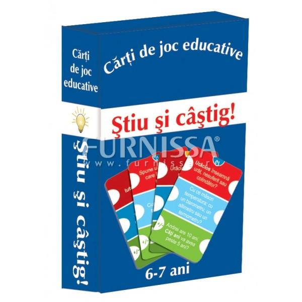 CARTI DE JOC EDUCATIVE- STIU SI CASTIG