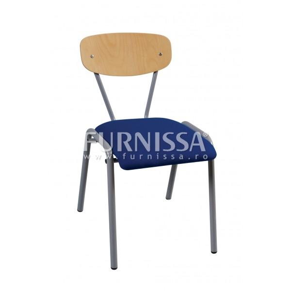 Scaun scolar – Robusta, Tapitat, H = 420 MM