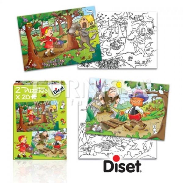 Set 2 Puzzle Cu Imagini de Colorat 01