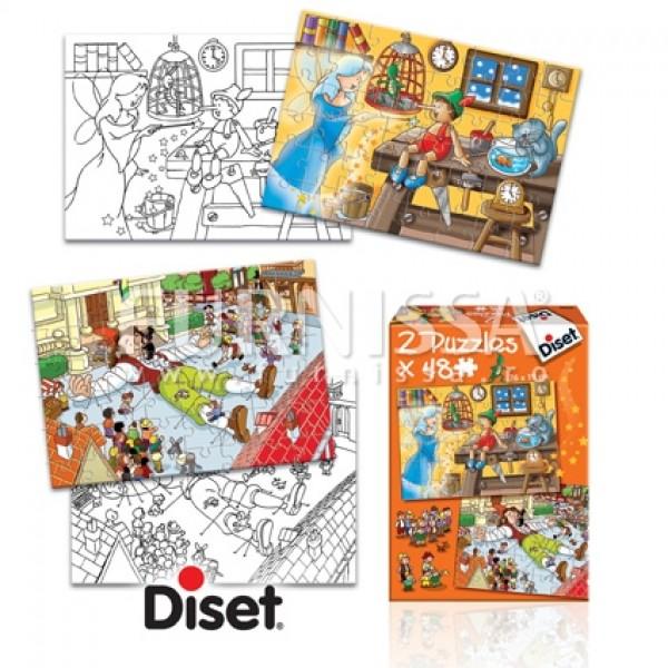 Set 2 puzzle cu imagini de colorat 03