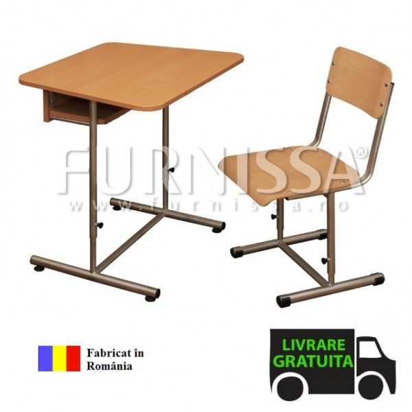 Set pupitru individual reglabil cu scaun individual reglabil pentru elevi 02