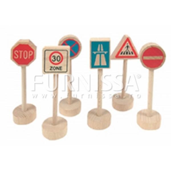 Set semne rutiere din lemn