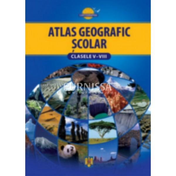 Atlas geografic scolar clasele V-VIII