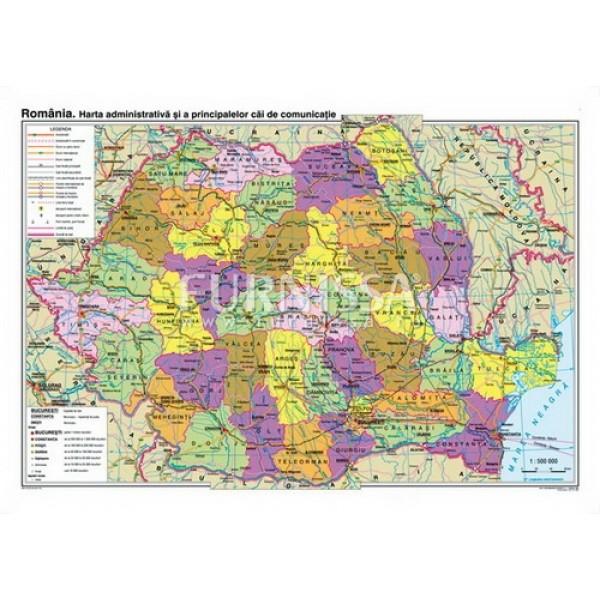 Harta administrativa -Romania