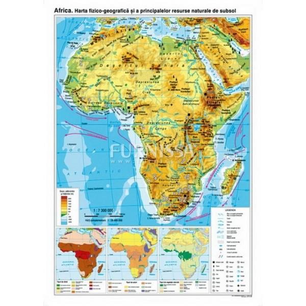Harta fizica si a resurselor – Africa