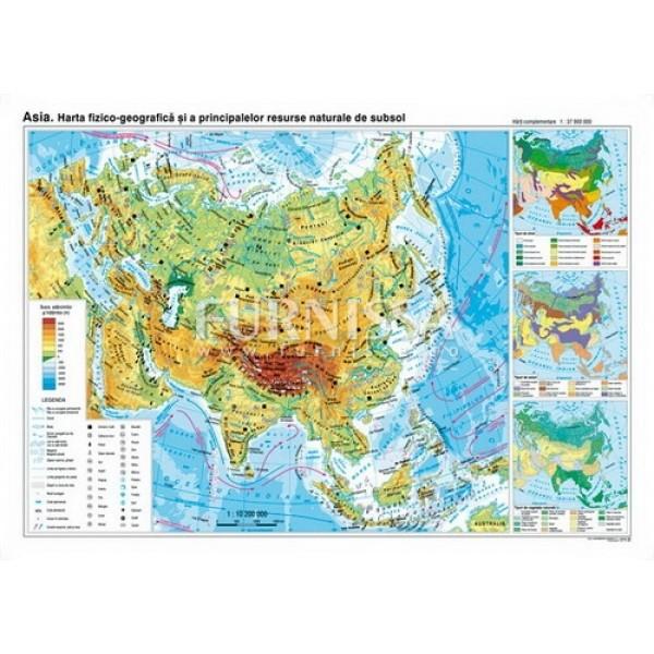 Harta fizica si a resurselor – Asia