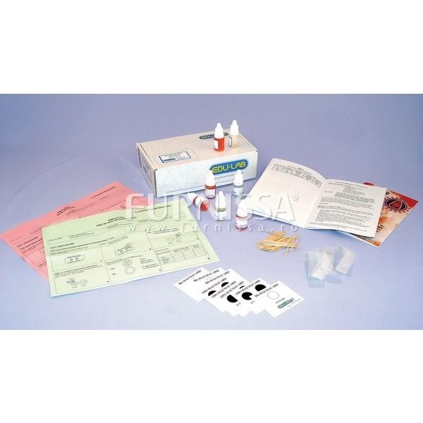 Simulare test de stabilire a grupei sangvine