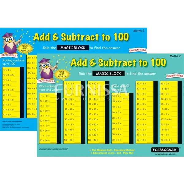 Tabla magica adunare si scadere pana la 100
