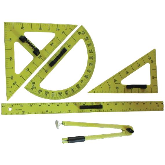 Trusa instrumente magnetice de trasat pe tabla
