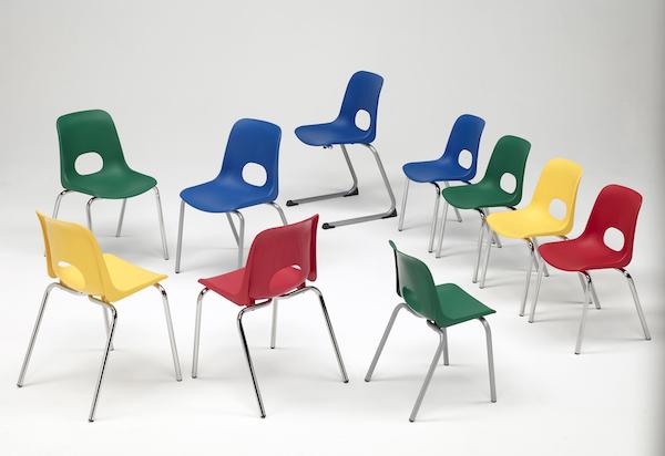 scaune scolare cu sezuturi si spatare din plastic