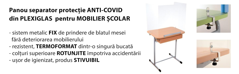 Mobilier scolat protextie anticovid plexiglas