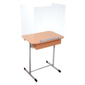 Panou Separator Protectie Plexiglas Anti-COVID – banca scolara, blat 700×500