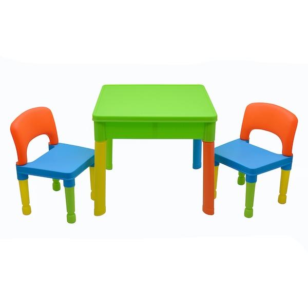set masa cu 2 scaune plastic