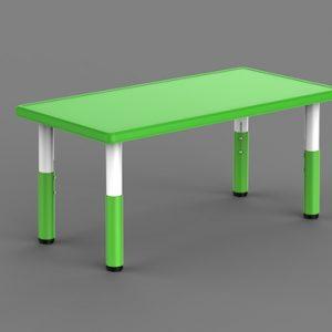 Masa Plastic Reglabila – Dreptunghiulara, Verde