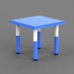 Masa Plastic Reglabila – Patrata, Albastra