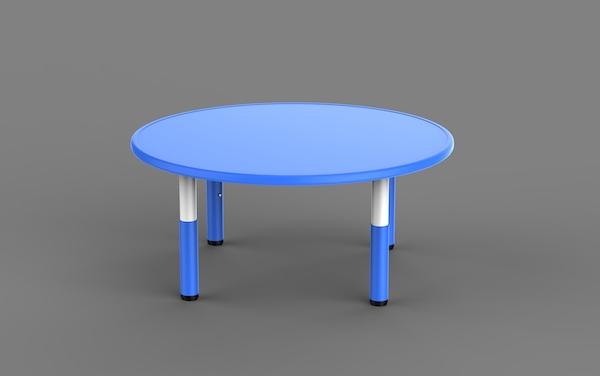 masa reglabila rotunda din plastic pentru gradinite