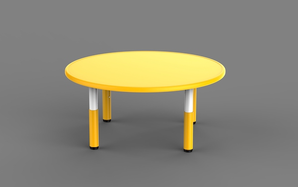 masa rotunda reglabila, din plastic pentru gradinita