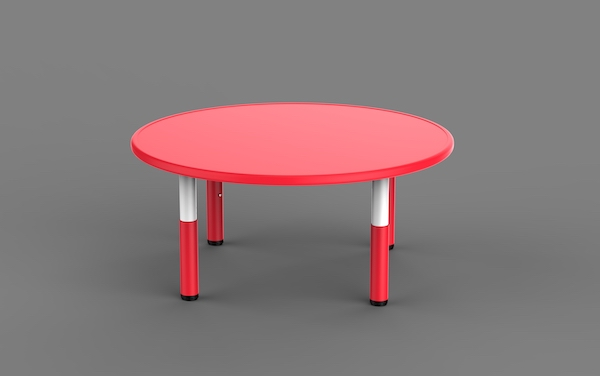 masa rotunda din plastic, reglabila pentru gradinite