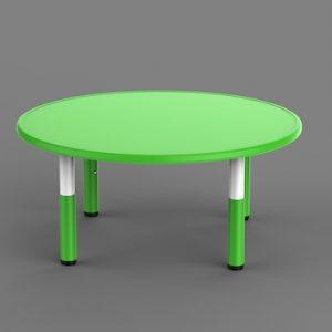 Masa Plastic Reglabila – Rotunda, Verde