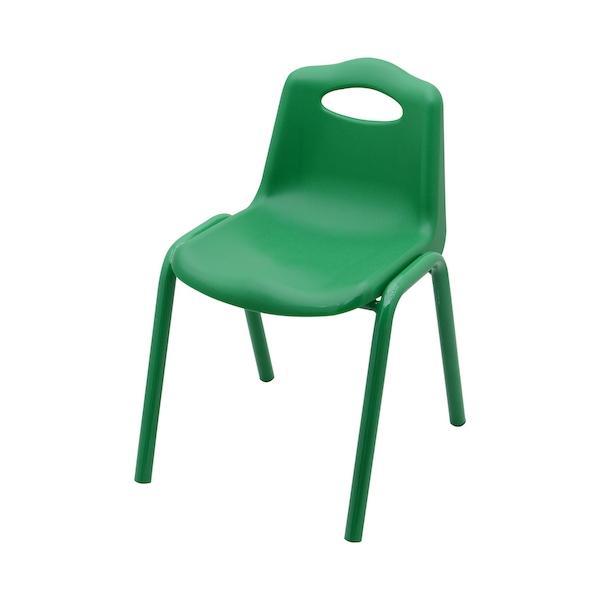 scaun scoica plastic cu cadru metalic pentru gradinite