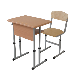 Set mobilier scolar individual reglabil – blat Werzalit